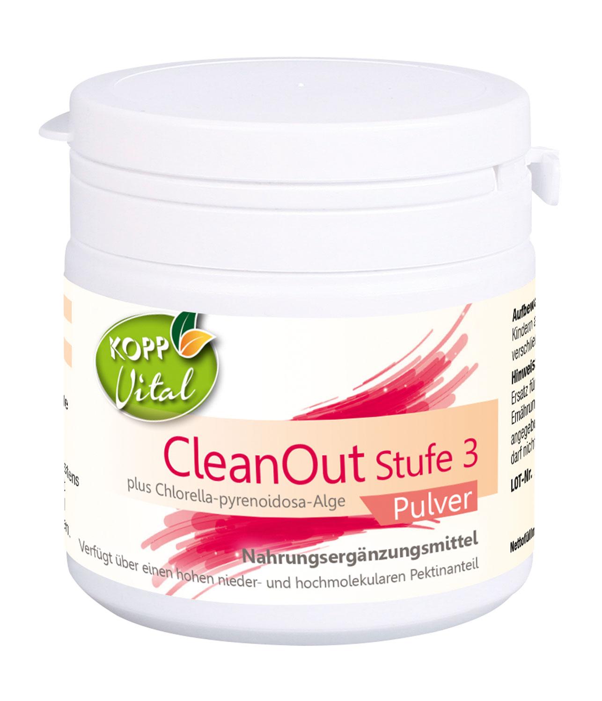 Kopp Vital CleanOut Stufe 3 plus Chlorella-pyrenoidosa-Alge, Pulver - vegan