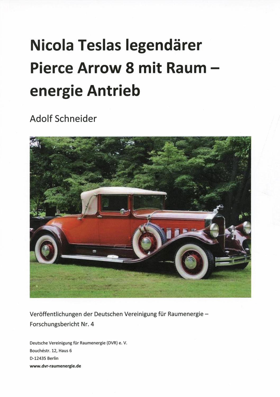 Nicola Teslas legendärer Pierce Arrow 8 mit Raumenergie-Antrieb