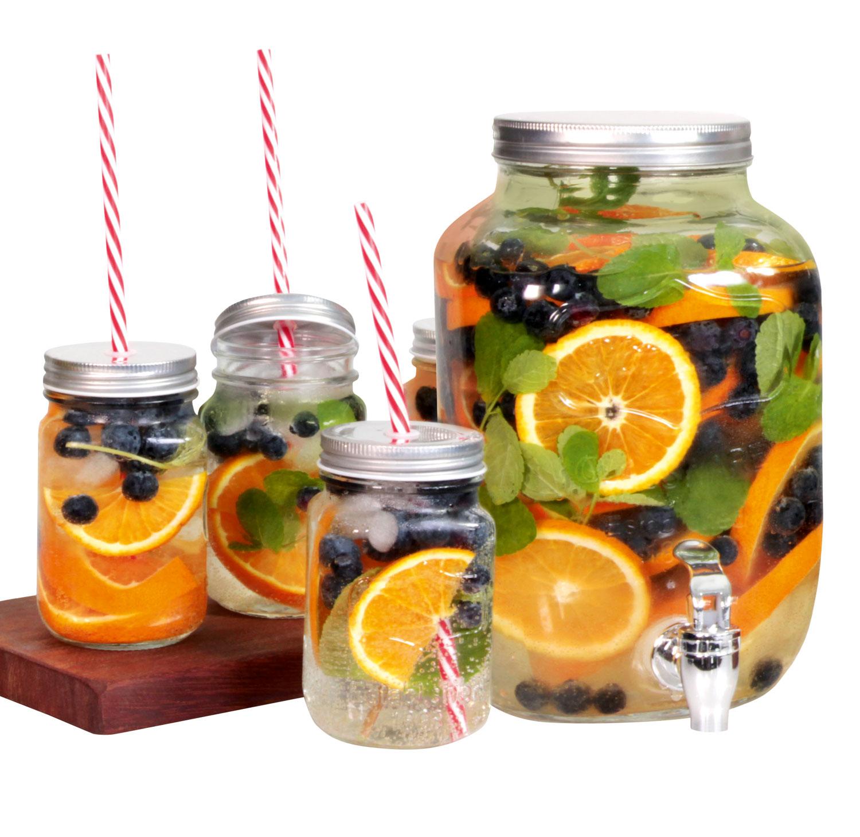 Getränkespender mit 4 Glaskrügen