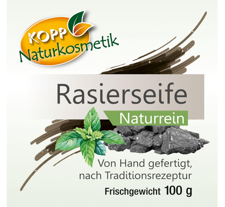 Kopp Naturkosmetik Rasierseife Frischegewicht 100g Bild 3