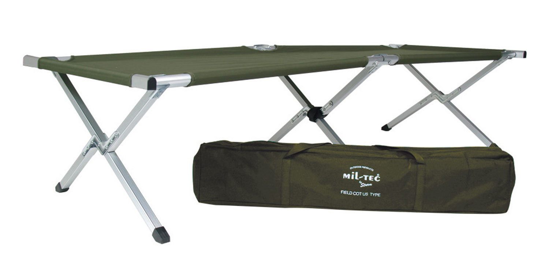 Feldbett US Typ Alu mit Tasche - 190 x 65 cm