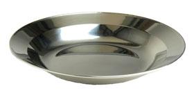 tiefer Teller aus Edelstahl 22cm