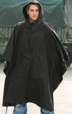 Regenponcho Ripstop schwarz