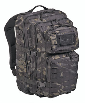 US Assault Pack Rucksack Laser Cut Multitarn 36 Liter