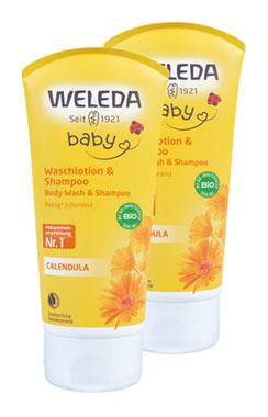 2er Pack Weleda Calendula Waschlotion & Shampoo 200ml_small