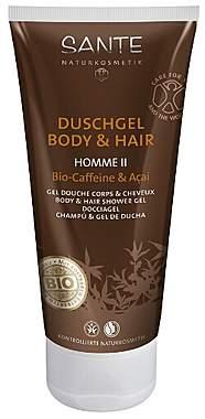Sante Duschgel Body & Hair Homme II mit Bio-Caffeine & Acai - 200ml