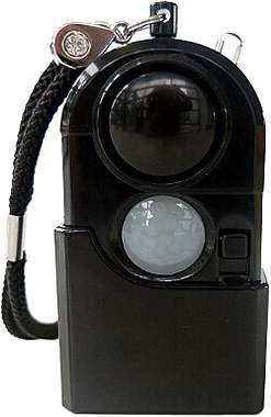 Mobiler Mini Alarm mit Licht und Bewegungssensor
