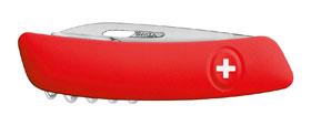 Swiza Schweizer Messer D03, Stahl 440, rote Anti-Rutsch Griffschale_small01