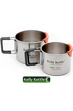 Kelly Kettle Campingbecher Set - 350ml und 500ml