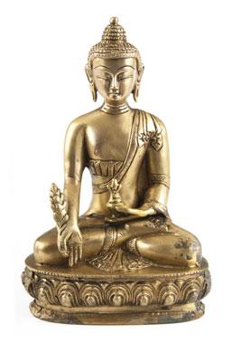 Medizin Buddha aus Messing - 20cm_small