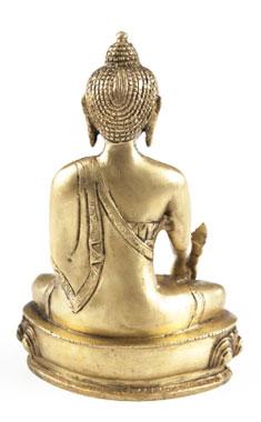 Medizin Buddha aus Messing - 20cm_small01