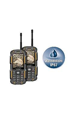 2er Set Dual-Sim Outdoor Handy Walkie Talkie XT-980