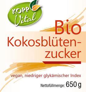 Kopp Vital Bio Kokosblütenzucker im Bügelglas - vegan_small01