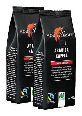 2er Pack Mount Hagen BIO Röstkaffee Arabica ganze Bohnen - 250g_small