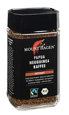 2er Pack Mount Hagen BIO Papua Neuguinea Kaffee Instant 100g