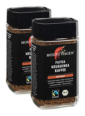 2er-Pack Mount Hagen Bio Papua Neuguinea Kaffee Instant_small