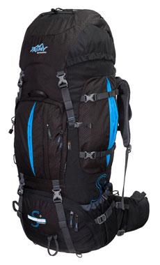 Tashev XXL Trekkingrucksack 100L + 20L Mount S+ Cordura® - schwarz/blau_small