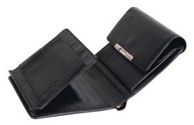 Esquire RFID Damen-Geldbörse - schwarz 12×11cm_small