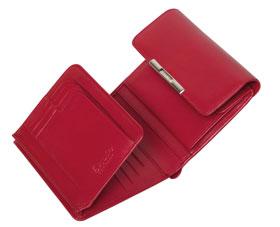 Esquire RFID Damen-Geldbörse - rot 12×11cm