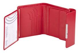 Esquire RFID Damen-Geldbörse - rot 12×11cm_small03