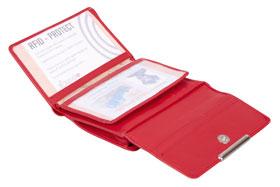 Esquire RFID Damen-Geldbörse - rot 14×10,5cm_small03