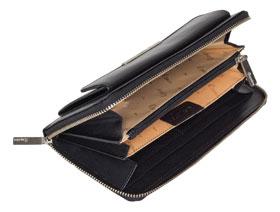 Esquire RFID Damen-Geldbörse - schwarz 19×10cm