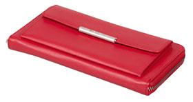 Esquire RFID Damen-Geldbörse - rot 19×10cm_small01