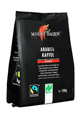 3er Pack Mount Hagen Fairtrade BIO Arabica Kaffeepads je 18 Pads