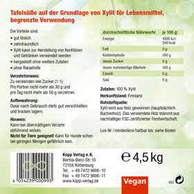 4,5kg Kopp Vital Xylit Birkenzucker Premium_small02