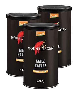 3er Pack Mount Hagen Demeter Malzkaffee je Dose 100g_small