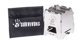 12 Survivors® Off-Grid Survival Stove - Hobo Ofen - USA Import_small01