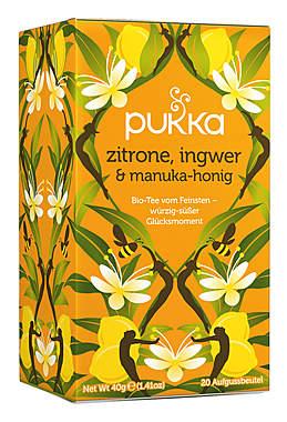 Pukka Zitrone, Ingwer & Manuka-Honig Tee