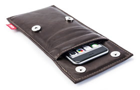 Der STALIN PhoneBAG Anti Spionage Tasche Mokka klein Made in Germany_small01