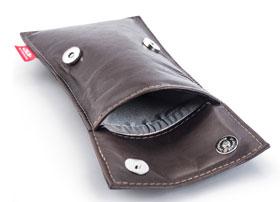 Der STALIN PhoneBAG Anti Spionage Tasche Mokka klein Made in Germany_small02