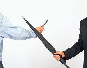 Unbreakable® Umbrella Selbstverteidigungsschirm mit Rundhakengriff_small01