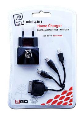 2Go Mini 4 in 1 Netz Ladegerät