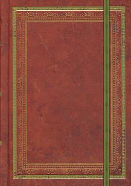 Blankobuch Lederlook rotbraun (klein)