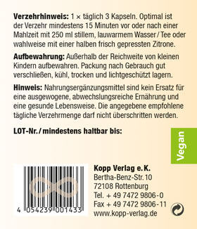 Kopp Vital CleanOut Stufe 1 + 2 plus reduziertes Glutathion, Kapseln - vegan_small03