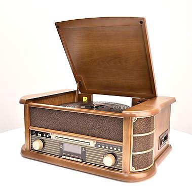 Nostalgieanlage mit Plattenspieler/CD/DAB+/UKW/Kassette DABORA_small