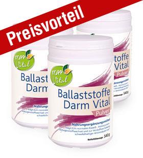 3er-Pack Kopp Vital Ballaststoffe Darm Vital Pulver - vegan
