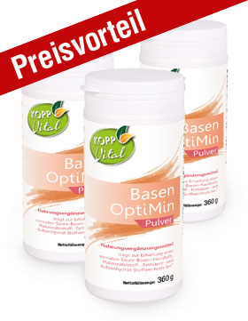 3er-Pack Kopp Vital Basen OptiMin Pulver - vegan