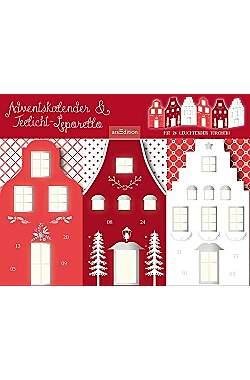 Adventskalender & Teelichtleporello: Weihnachtsstraße - Mängelartikel