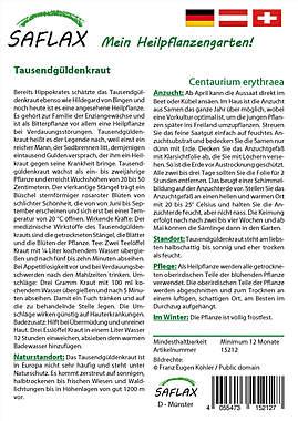 Mein Heilpflanzengarten - Tausendgüldenkraut_small01