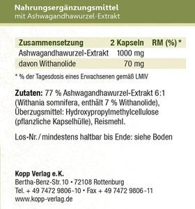 Kopp Vital Adaptogen Ashwagandha (Schlafbeere) Kapseln_small02