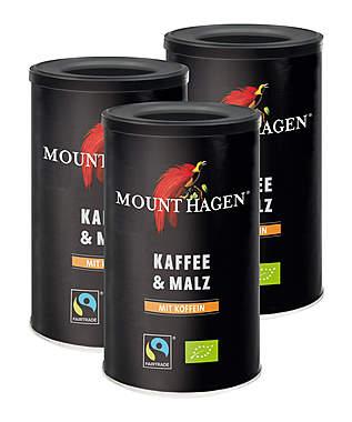 3er Pack Mount Hagen Bio Fifty Fifty - Kaffee & Malz