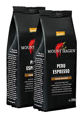 2er Pack Mount Hagen Demeter Peru Espresso ganze Bohne