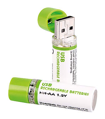 USB Batterien AA - 2er-Set