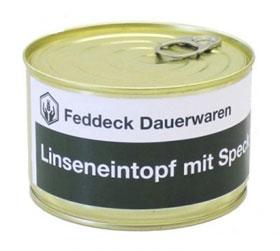 Vollkonserve Linseneintopf mit Speck - 400g