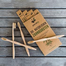 4er Pack Pandoo natürliche Zahnbürsten aus Bambus_small02