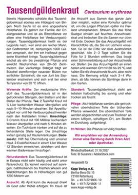 Tausendgüldenkraut - Mein Heilpflanzengarten_small01
